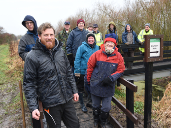 Volunteers Improve Coombe Hill Nature Reserve