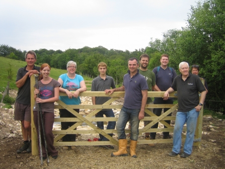 Volunteers at Daneway Banks