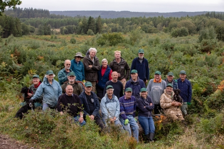 Volunteers in the Forest of Dean